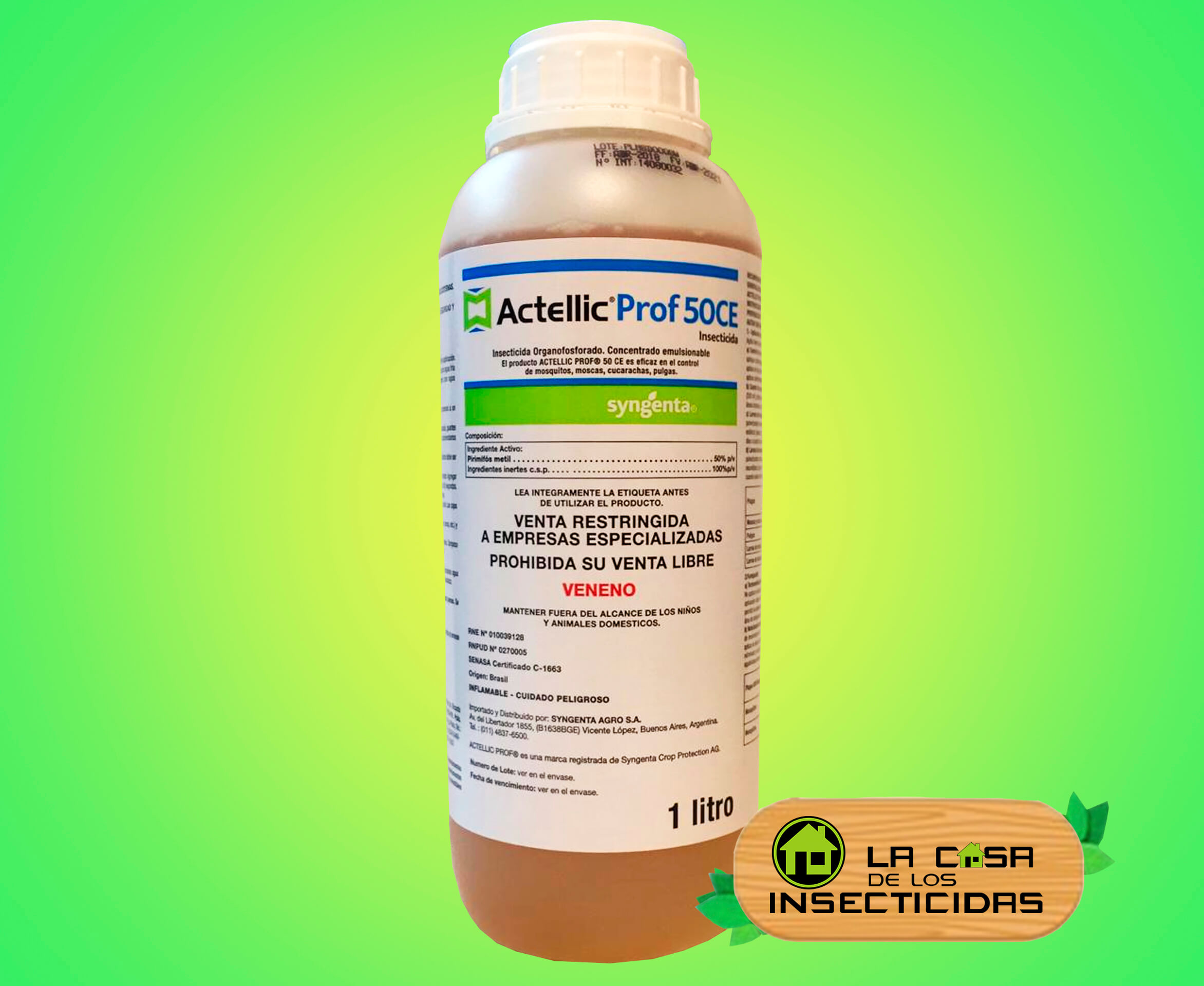 Actellic x 1 ltr Pirimifos Metil 50 %